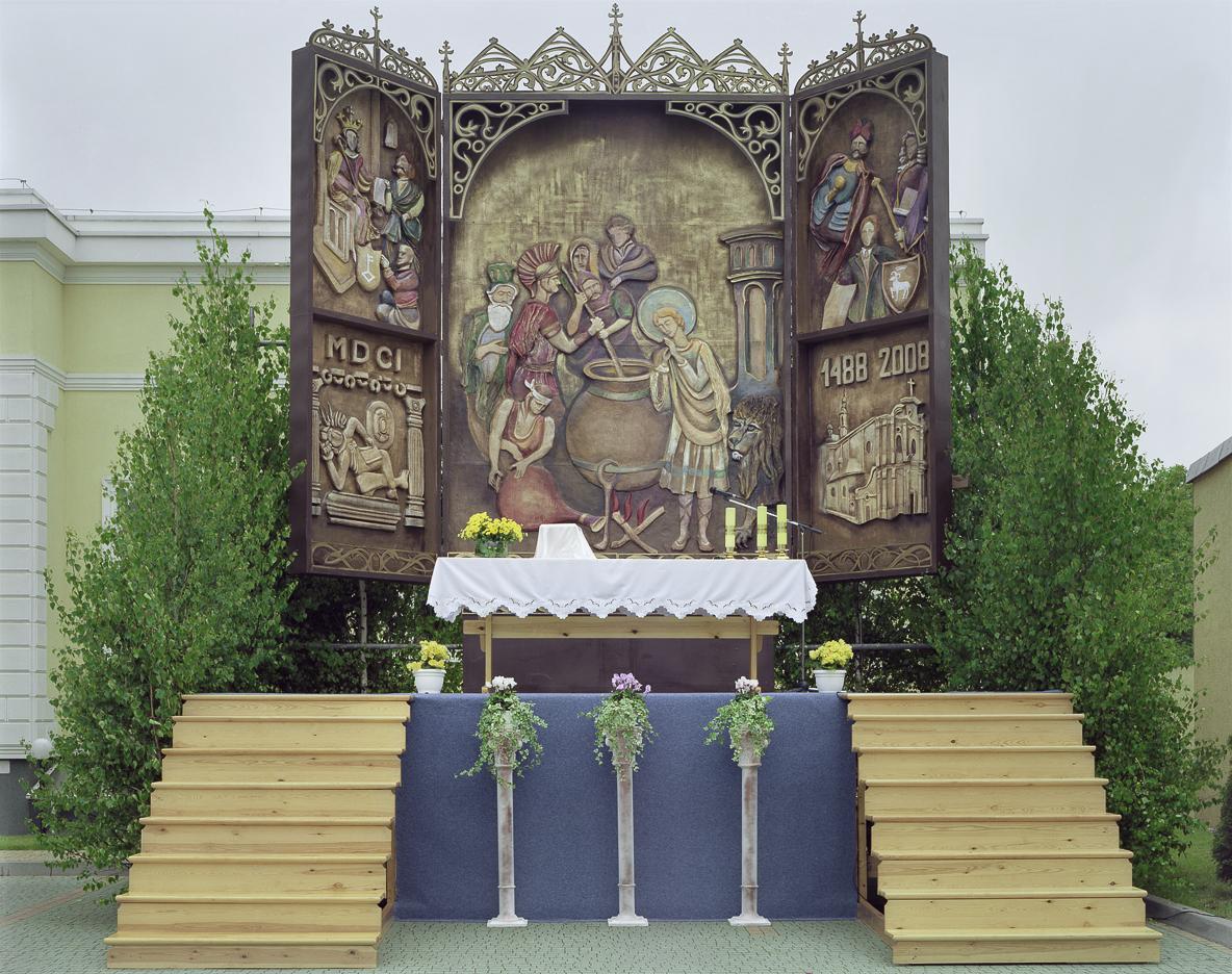 Boże Ciało - cykl fotografii ołtarzy procesji Bożego Ciała w Polsce