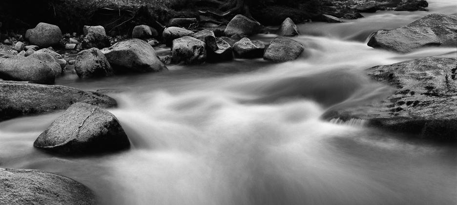 Izerka, rzeka, krajobraz, Fotografia ekspresyjna