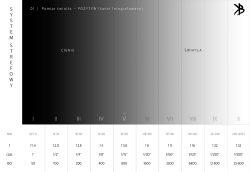 System strefowy, pomiar punktowy światła, negatyw w skanerze,