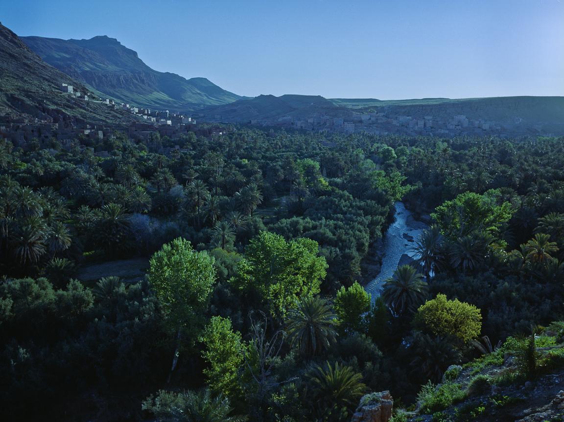 Maroko Express 2015, widok na Tinghir i rzekę Todra, Atlas Wysoki